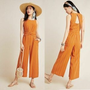 NWT Anthropologie Striped Sleeveless Jumpsuit